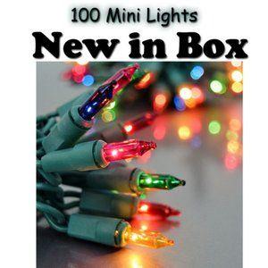 Holiday Time Christmas Mulitcolored Mini Lights